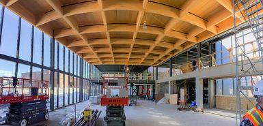 Grande salle à l'italienne du Carré 150, en construction (mars 2015)