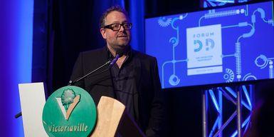 Alexandre Taillefer durant sa conférence au Forum DD 2014