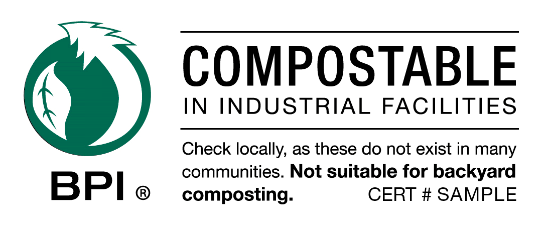 Les sacs utilisés doivent être compostables et porter le logo officiel