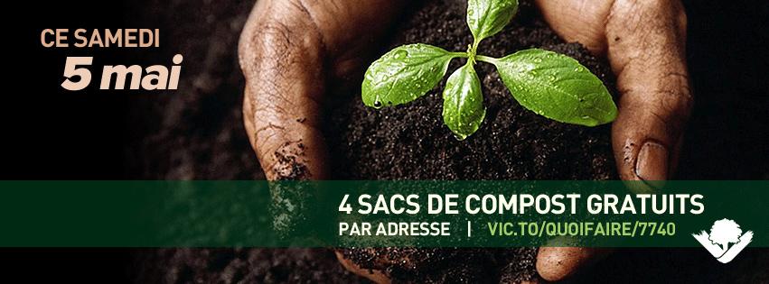 Ce samedi 5 mai, 4 sacs de compost gratuits par adresse