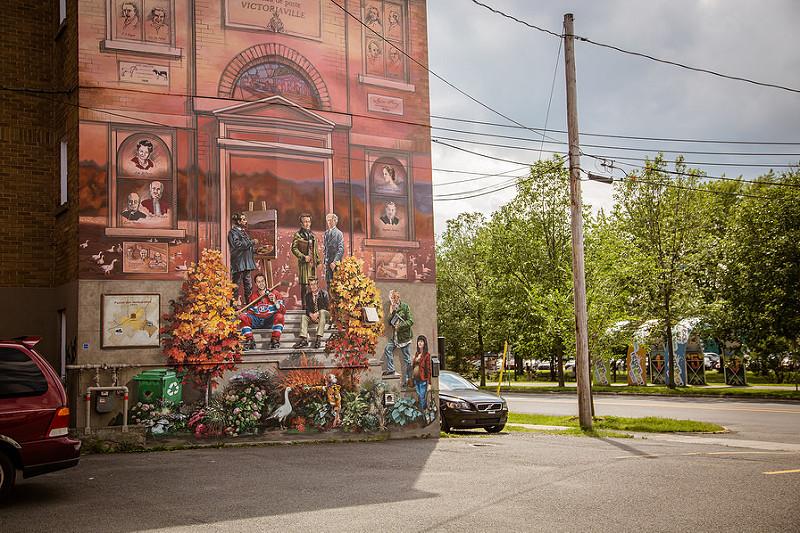 Murale au centre-ville de Victoriaville