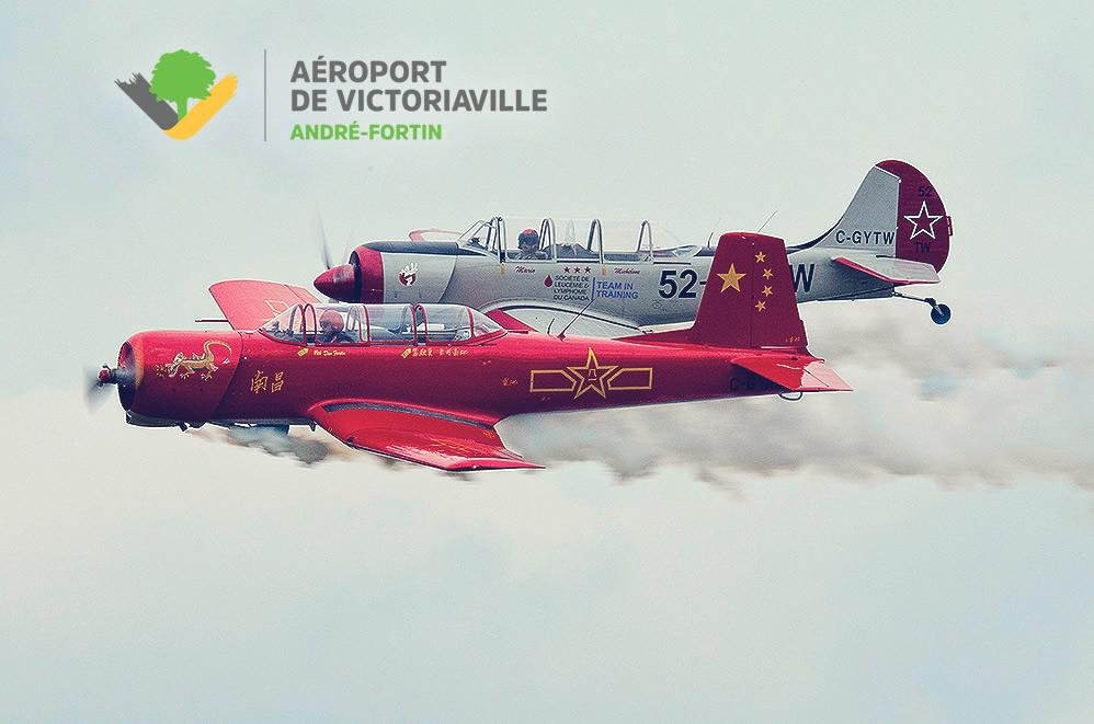 Formation d'avions acrobatiques Yak Attack