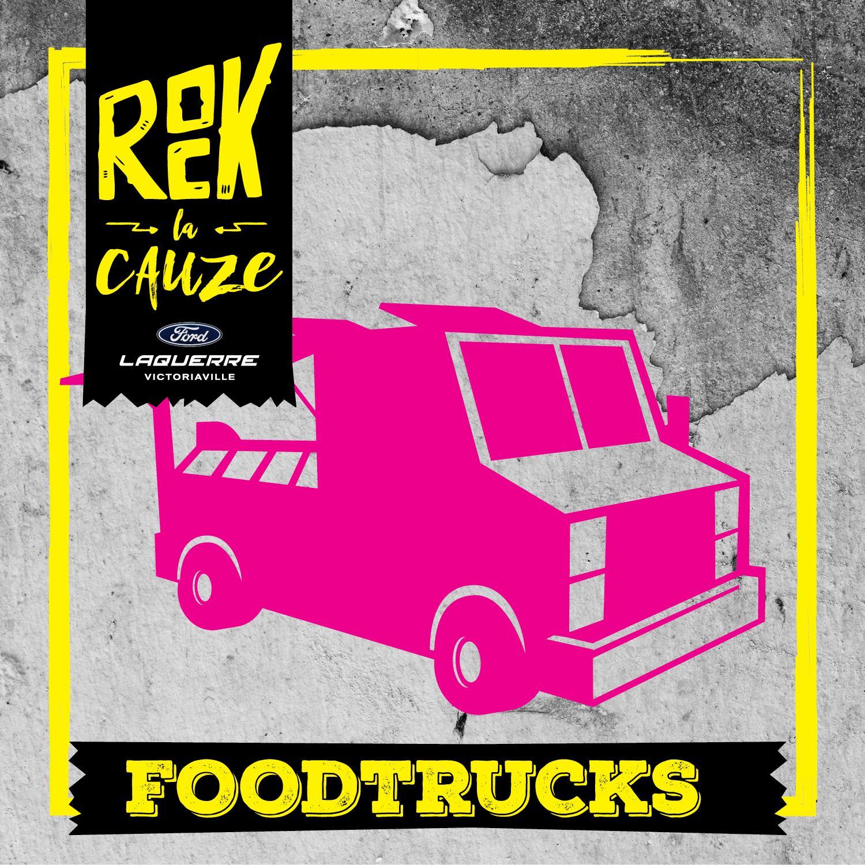Food trucks sur place: Poutine Fest • Cantine Les Râtons • Crystalina • Cantine Pierre Beaudet • Cantine Bar Rio • Nakama Thé. Menu végétarien, poutines, wraps, pâtes, crème glacée, viande fumée, hamburgers, pogos, chips à l'ancienne, hot-dogs.