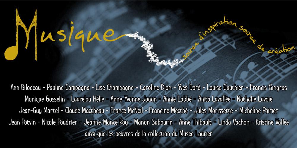 Exposition: Musique source d'inspiration, source de création