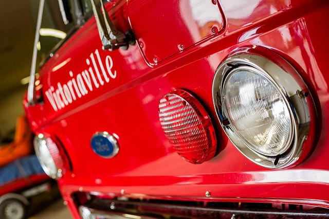 Devant d'un véhicule incendie de la Ville de Victoriaville