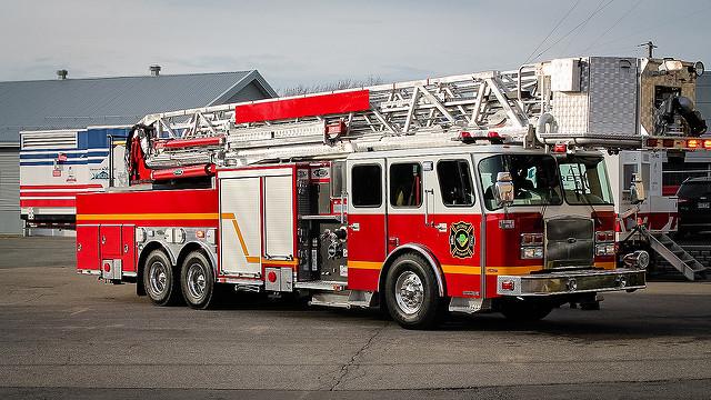 Véhicule incendie de la Ville de Victoriaville