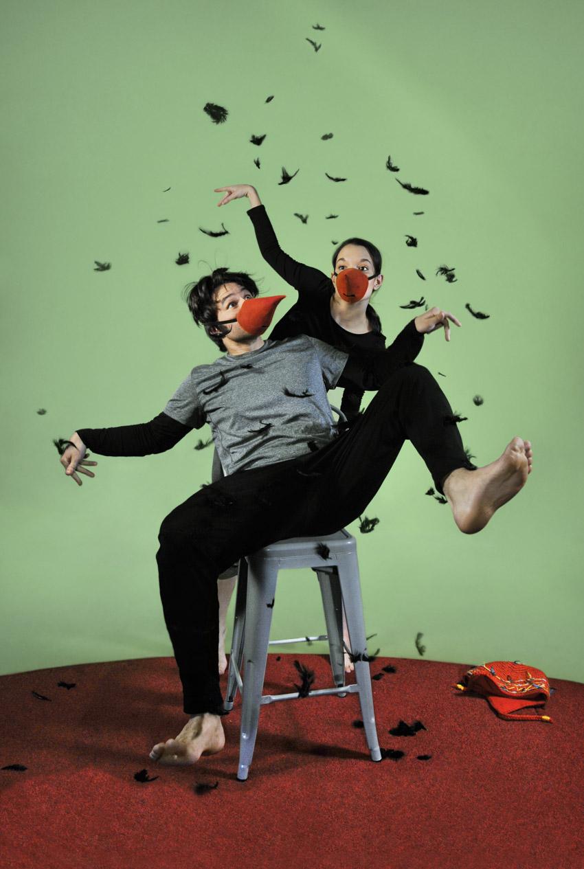 Spectacle L'enfant corbeau: Coproduction du Théâtre bouches décousues et du Théâtre les gens d'en bas présenté au Carré 150  de Victoriaville