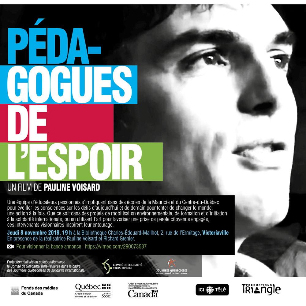 Documentaire: Pédagoges de l'espoir, un film de Pauline Voisard