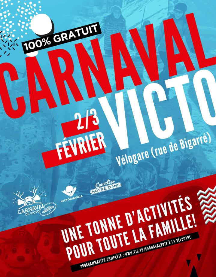 Affiche officielle du Carnaval de Victo 2019