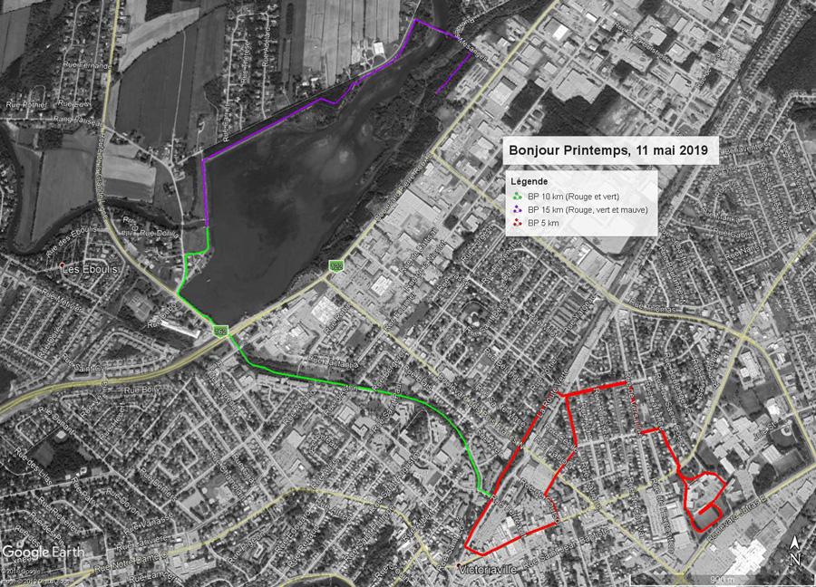 Parcours 5 - 10 - 15 KM