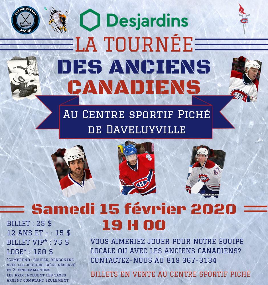 Les Anciens Canadiens au Centre sportif Piché de Daveluyville