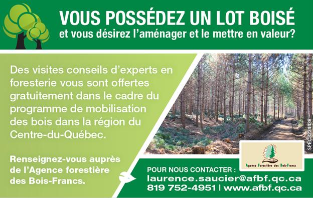 Agence Forestière des Bois-Francs du Quartier Notre-Dame, au centre-ville de Victoriaville