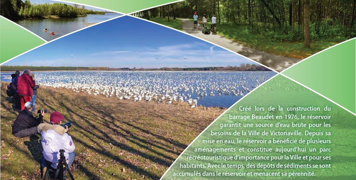 Aperçu des activités offertes au parc du réservoir Beaudet de Victoriaville