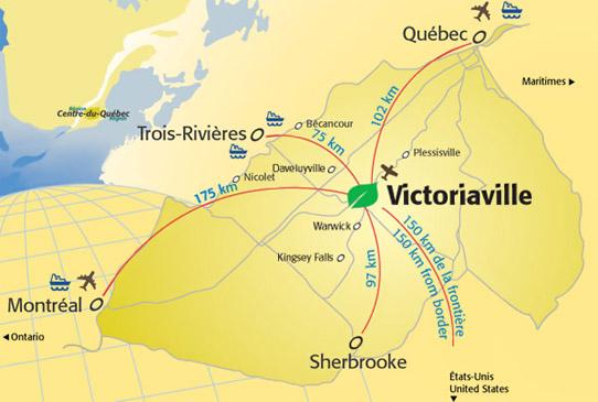 Victoriaville et les environs
