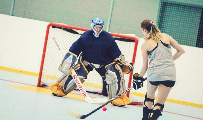 Dek hockey intérieur au Pavillon Agri-Sports de Victoriaville
