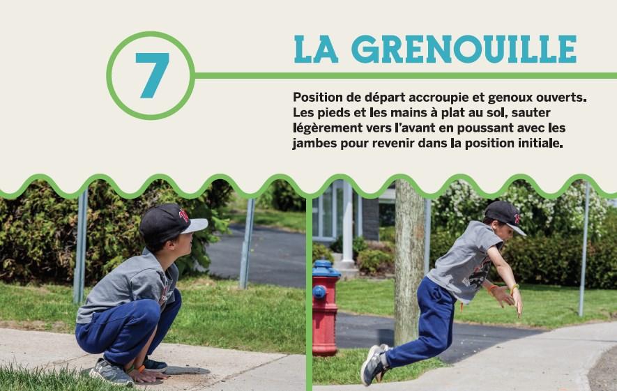 Le carnet d'exercices des parcours ludiques, une initiative de la Ville de Victoriaville
