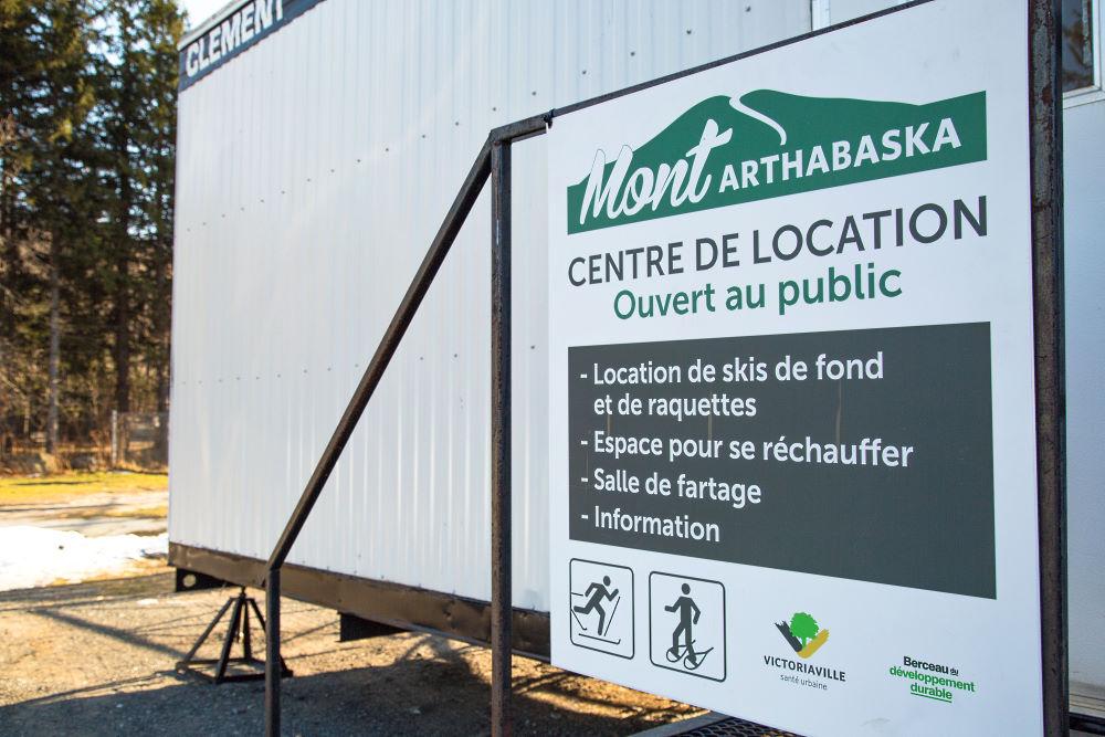 Extérieur du centre de location du Mont Arthabaska de Victoriaville