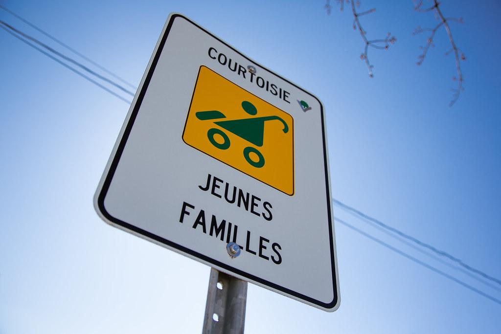 Espaces de stationnements réservés aux jeunes familles à Victoriaville