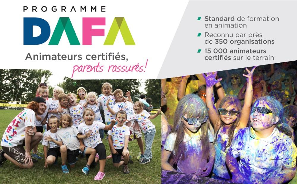 """Nos animateurs sont certifiés DAFA. 1 animateur par 20 enfants. <a href=""""http://vic.to/animationestivale#devenirAnimateur"""">Plus de détails</a>"""