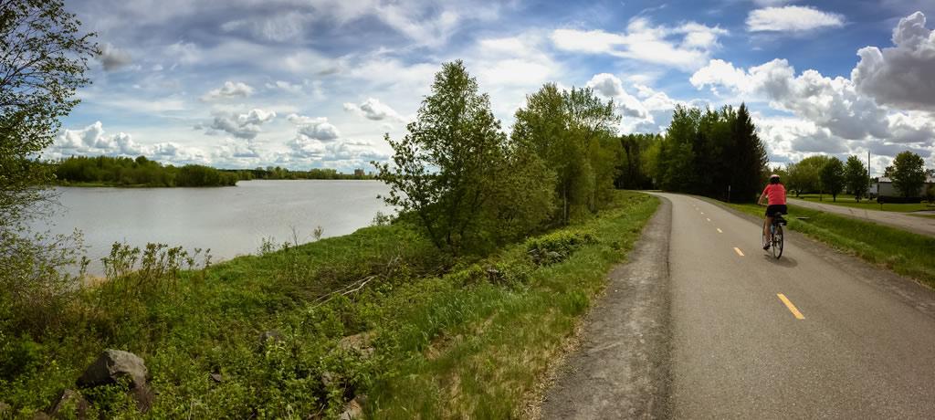 Sentier pédestre et cyclable de 5.2 km autour du réservoir Beaudet de Victoriaville