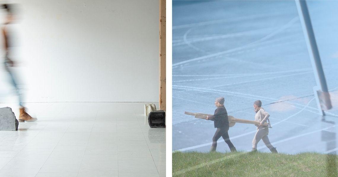 Atoll art actuel à gauche et Centre d'art Jacques-et-Michel-Auger à droite. Imaginez maintenant...