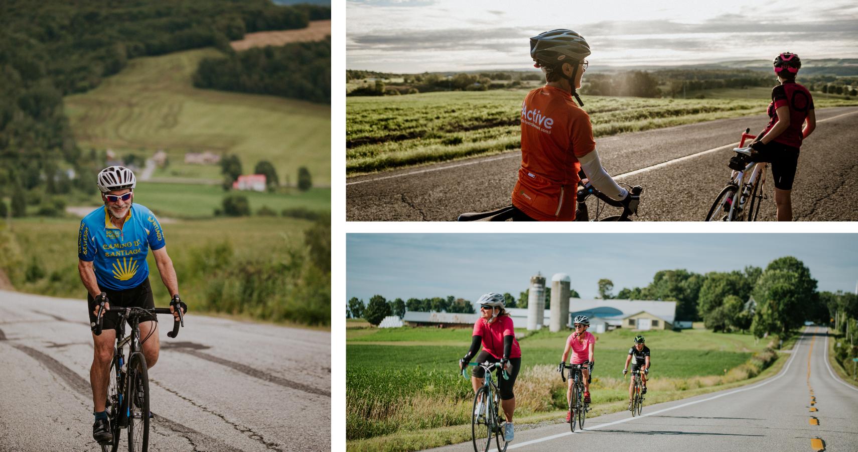 La Route des Silos offre un itinéraire vélo exposant les plus beaux paysages champêtres - Crédits photos: Les Maximes