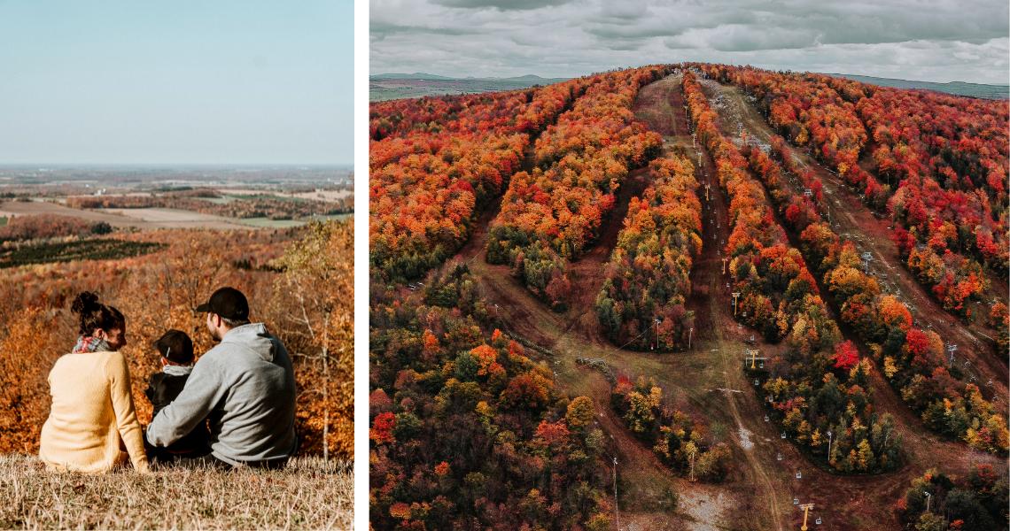 En été comme en automne, le Mont Gleason est à gravir pour une vue d'ensemble sur toute la région. Crédits photos: Les Maximes