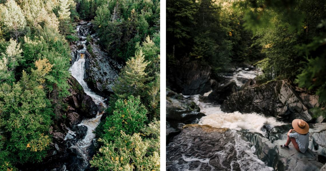 Un vrai trésor caché, le Sentier des Cascades à Ham-Nord impressionne par ses formations rocheuses et ses chutes. Crédits photos: Les Maximes