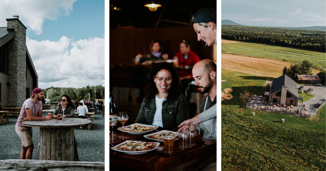 À la Grange Pardue, on goûte des bières faites à partir de leurs cultures de houblon et d'orge. Bière, bouffe, paysage, tout est incroyable! - Crédits photos: Les Maximes