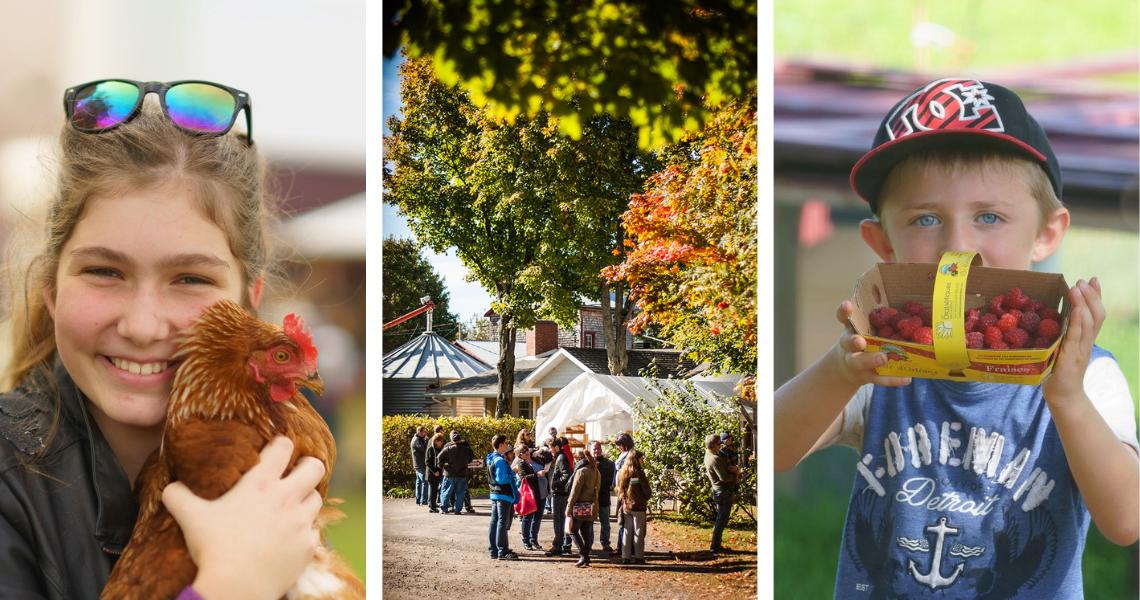 Les 2, 3 et 9, 10 octobre 2021, on se retrouve à la Balade Gourmande! - Crédits photos: Guy Samson (gauche, droite), Les Maximes (centre)