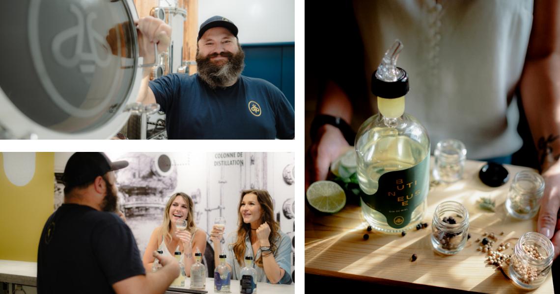 À la Distillerie B par la Miellerie King, on est toujours accueillis avec les plus beaux sourires! Du miel au gin, en passant par les sauces, tous leurs produits goûtent le ciel!