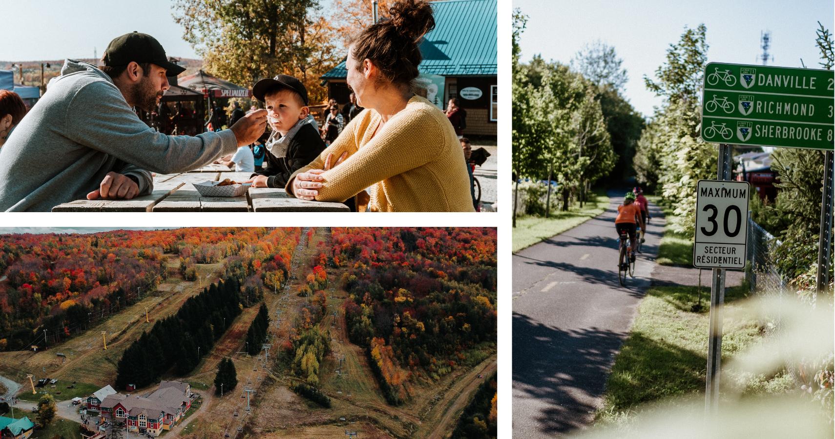 Gleason en couleurs et le Parc linéaire des Bois-Francs pour voir la région autrement - Crédits photos: Les Maximes