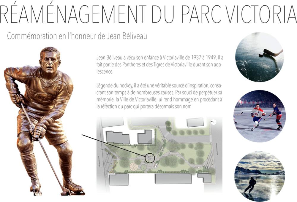 Hommage à Jean Béliveau au parc Victoria de Victoriaville