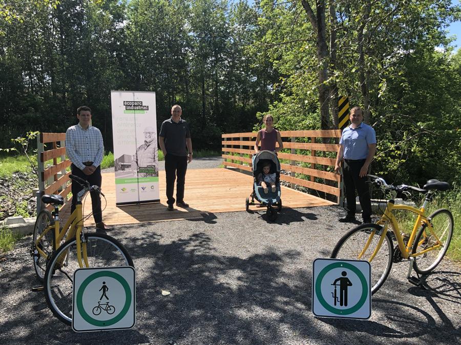 Une nouvelle piste cyclable menant vers l'Écoparc industriel Daniel-Gaudreau