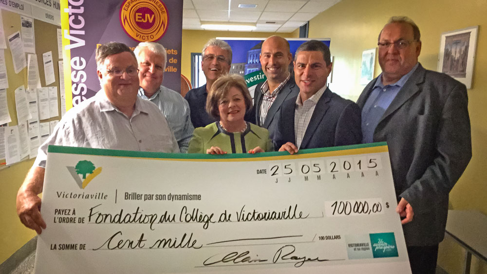 Don de 100,000$ à la Fondation du Collège de Victoriaville