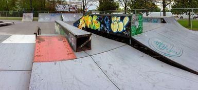 Modules au skate parc extérieur de Victoriaville