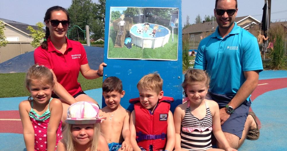 Se baigner en toute sécurité: 250 enfants rencontrés
