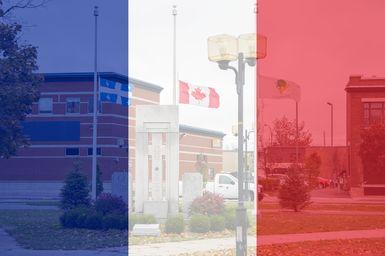 Mise en berne du drapeau de Victoriaville