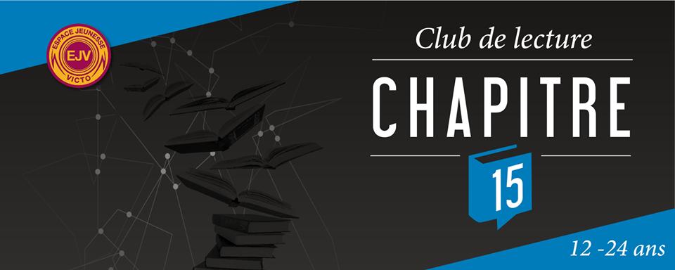 Lancement du club de lecture Chapitre 15, destiné aux 12-24 ans