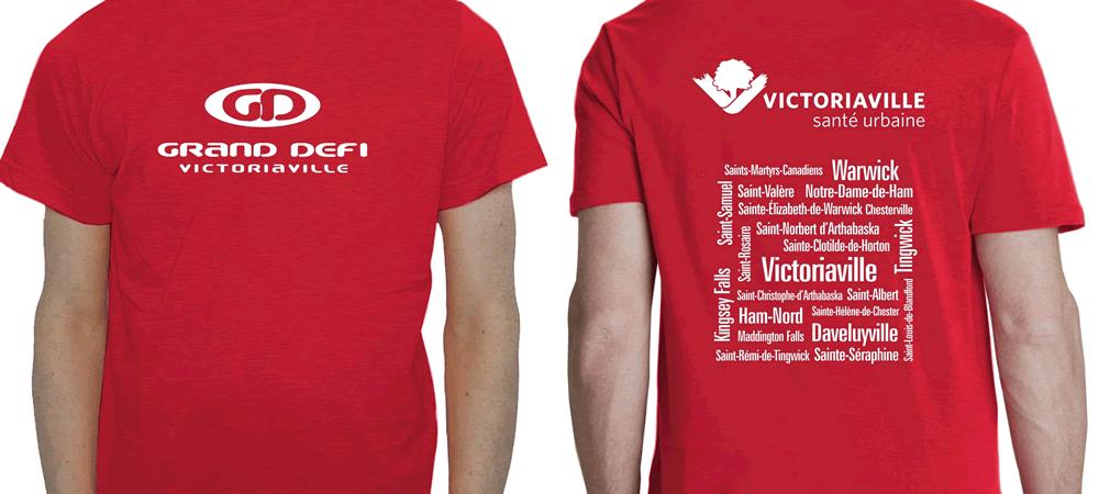 T-shirts des participants du Marathon d'Ottawa 2016