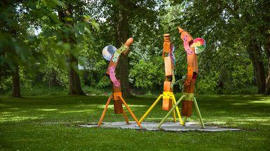 Dévoilement d'une oeuvre identitaire au parc Terre-des-Jeunes