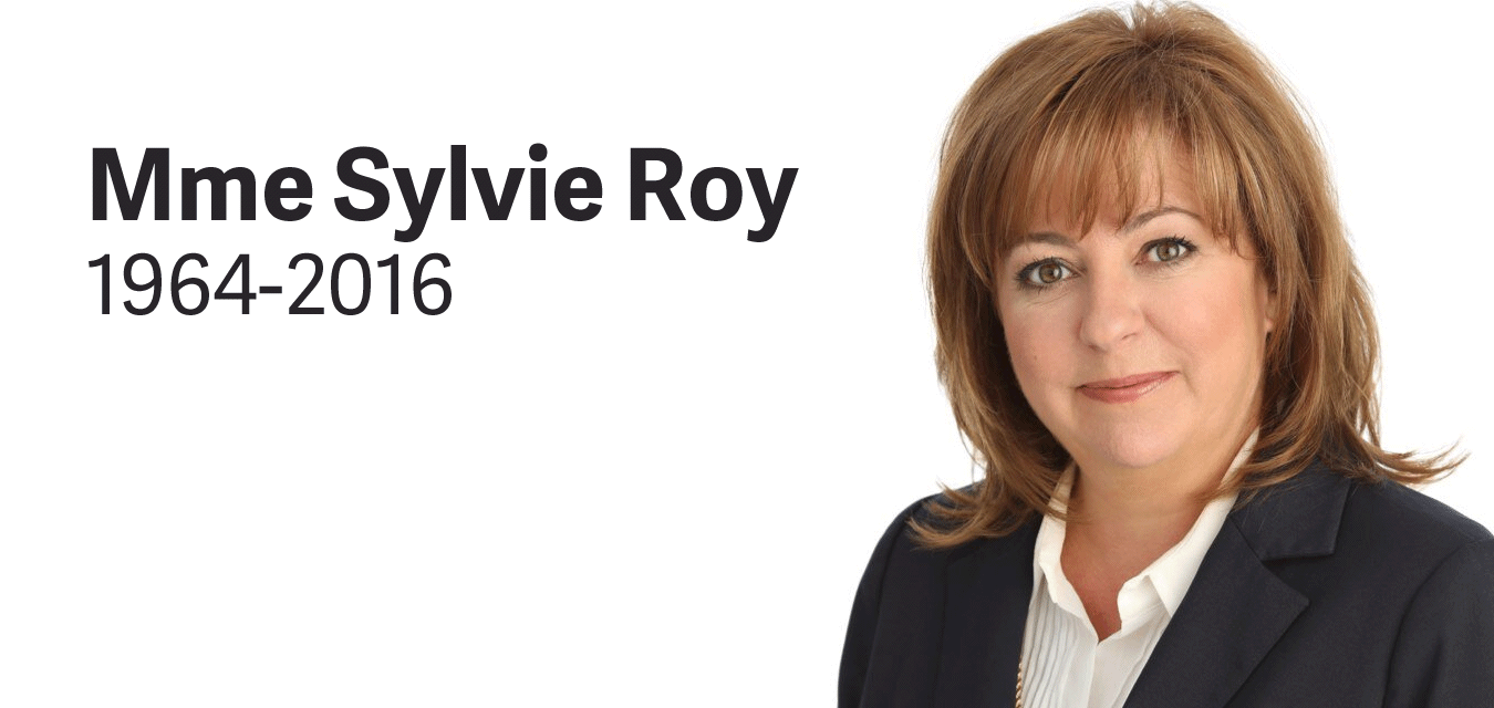 Décès de Sylvie Roy, députée d'Arthabaska