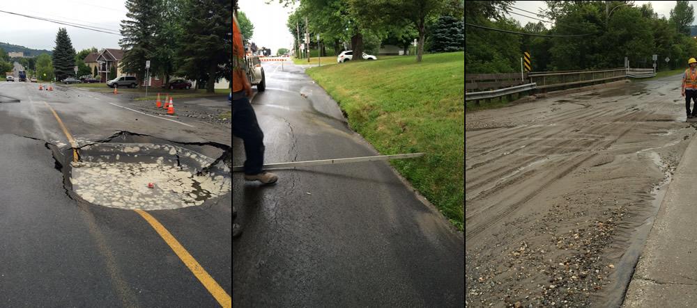 Fuite d'eau sur Girouard: État de la situation