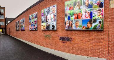 Les victoriavillois à l'honneur sur une nouvelle mosaïque inaugurée au centre-ville