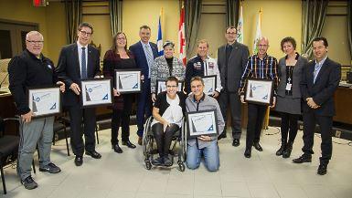 Victoriaville remet 2 prix d'excellence en accessibilité et 6 mentions spéciales