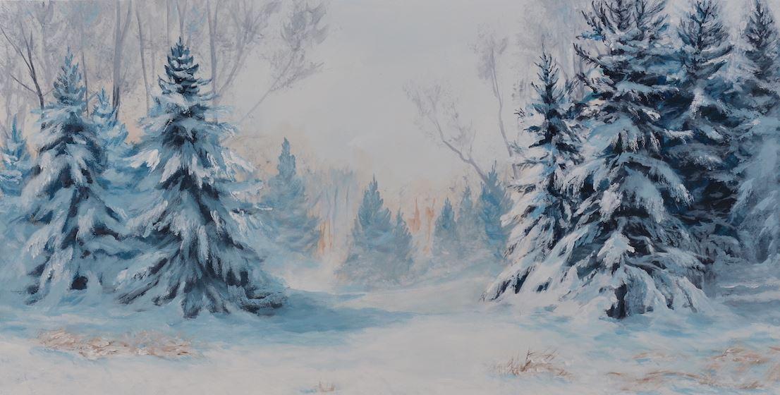 """L'artiste peintre Sylvia Audet présente """"L'hiver chez-nous"""" à l'hôtel de ville"""