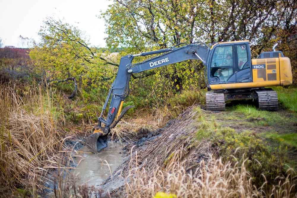 Des travaux d'entretien ont eu lieu à l'automne 2016 dans le cours d'eau Crochetière situé à Daveluyville
