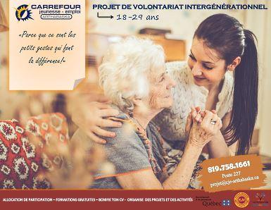 Projet de volontariat intergénérationnel de retour au Carrefour Jeunesse Emploi