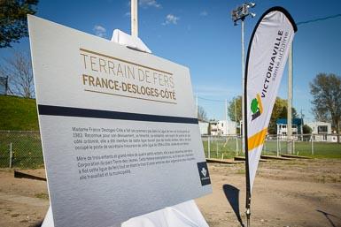 Terrain de fers France-Desloges-Côté, hommage à une grande dame!