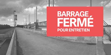 Fermeture temporaire de l'accès piétonnier sur le barrage du réservoir Beaudet